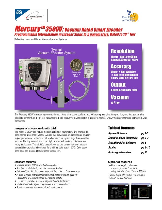 Micro e systems_mercury3500v_datasheet