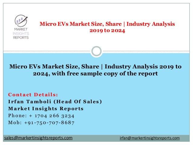 Contact Details: Irfan Tamboli (Head Of Sales) Market Insights Reports Phone: + 1704 266 3234 Mob: +91-750-707-8687 Micro ...