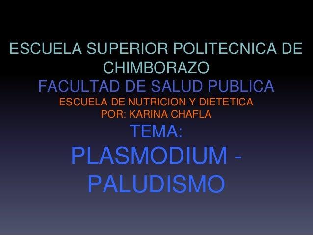 ESCUELA SUPERIOR POLITECNICA DE CHIMBORAZO FACULTAD DE SALUD PUBLICA ESCUELA DE NUTRICION Y DIETETICA POR: KARINA CHAFLA T...