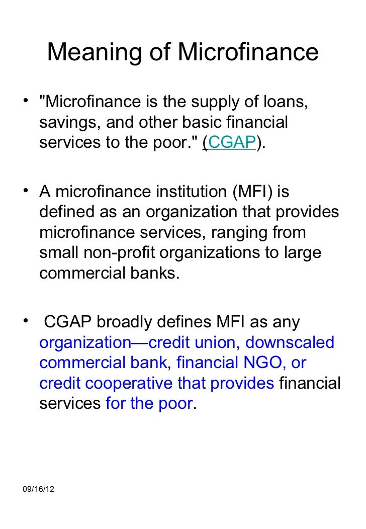 Microfinance 1-notes