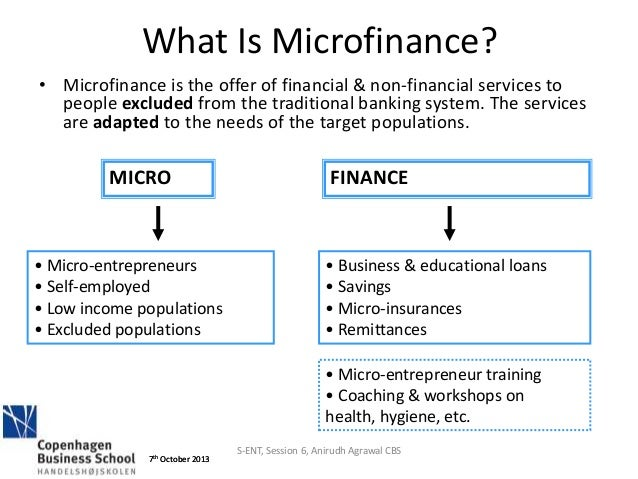 micro finance Microcredit has grown into a $60-billion-plus industry reaching 200 million   four of the six found no change in food consumption one found a modest   wealth, or direct grants that don't have to be repaid — might be better suited to   sure, but there is a definition of absolute poverty (the type that people.