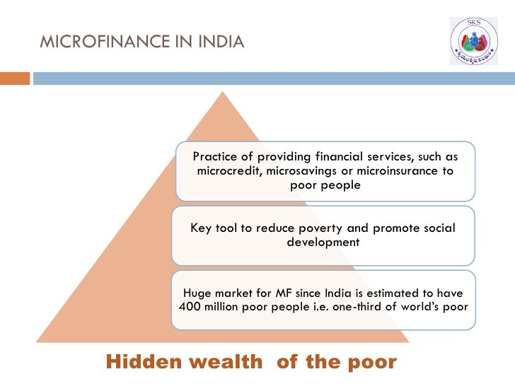 MICROFINANCE IN INDIA                     Practice of providing financial services, such as                  microcredit, ...