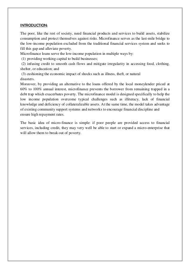 Microfinance 1 Notes: Micro Finance Nikita 1