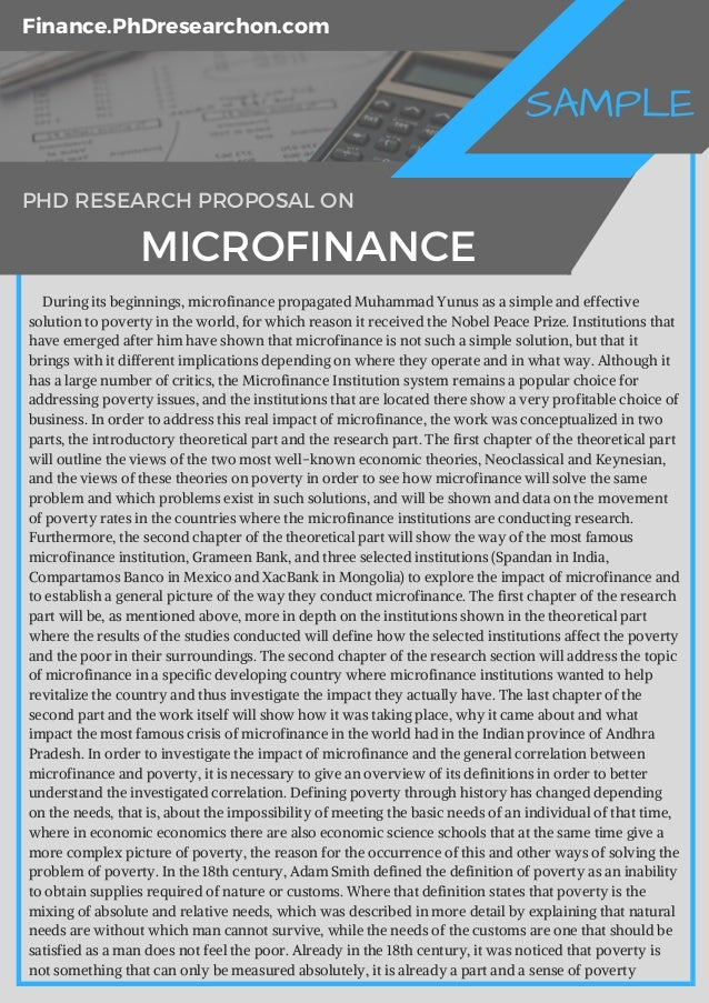 research paper on microfinance