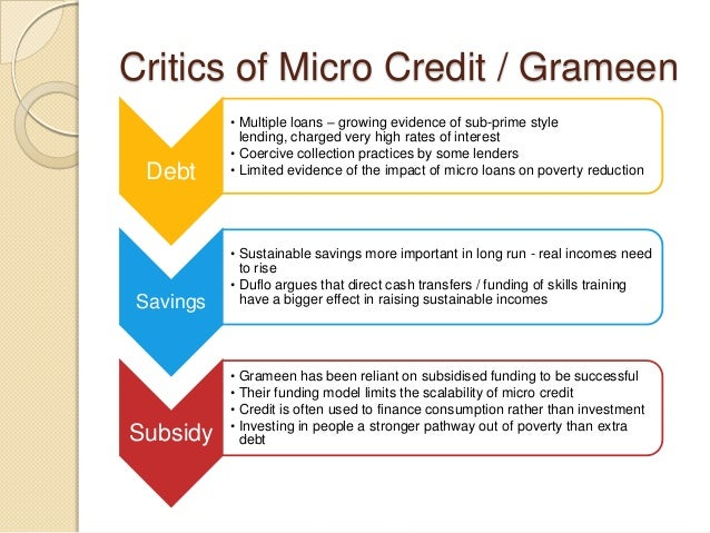 micro credit no evidence of reducing poverty Poverty reduction, or poverty  the world bank concludes that increasing land rights is 'the key to reducing poverty  develops and disseminates evidence.