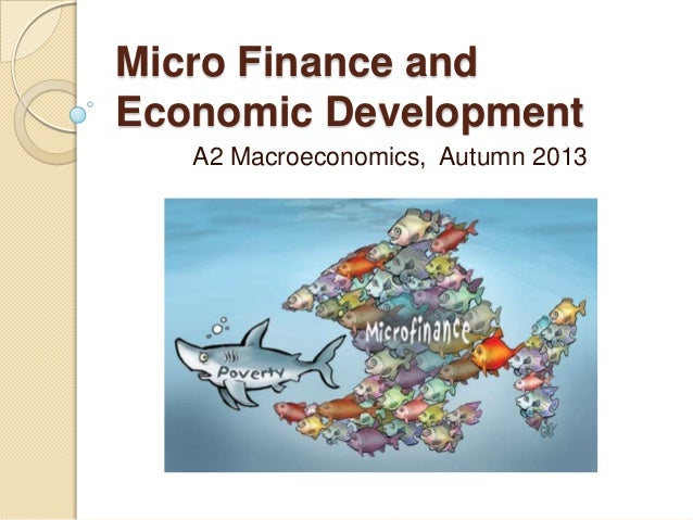 Micro Finance and Economic Development A2 Macroeconomics, Autumn 2013