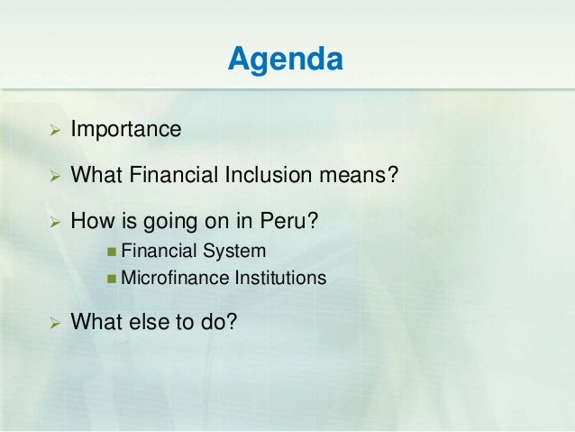 Microfinance and financial inclusion conference @ ucsp