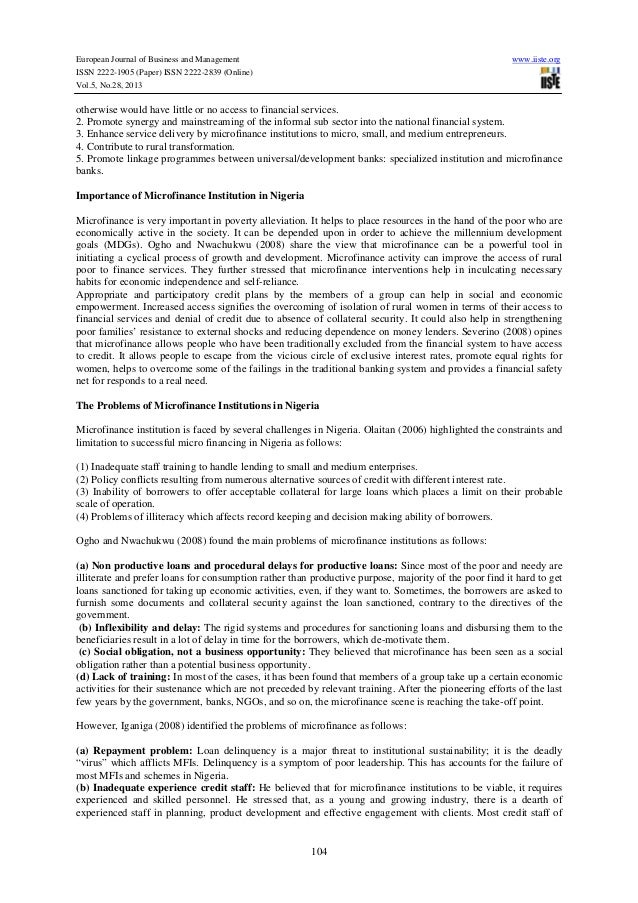 Importance of microfinance in sustainable development economics essay