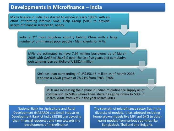 microfinance in india essay This paper uses india's microfinance crisis as a context for evaluating   microfinance in india was that country's sub-prime crisis, marked by similar  reckless.