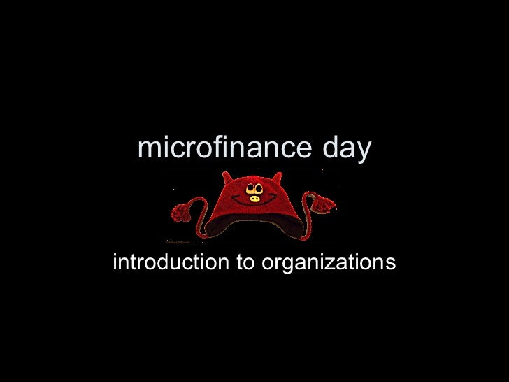 microfinance day introduction to organizations
