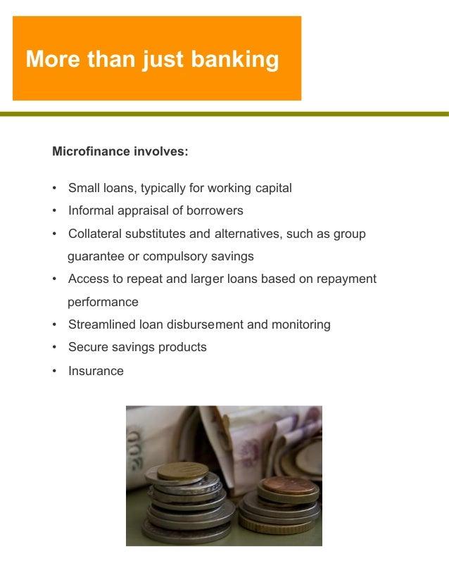 Microfinance 1 Notes: SMDP Microfinance Refresher MODULE 1