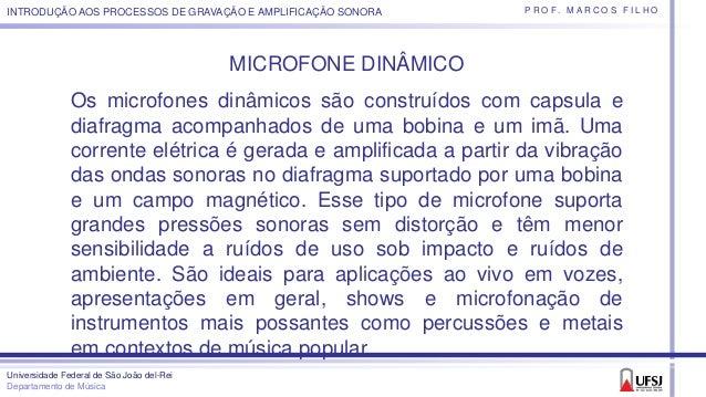 Microfones - Tipos de padrão polar e usos Slide 2