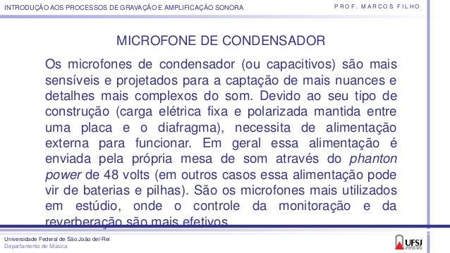 Microfones - Tipos de padrão polar e usos Slide 3