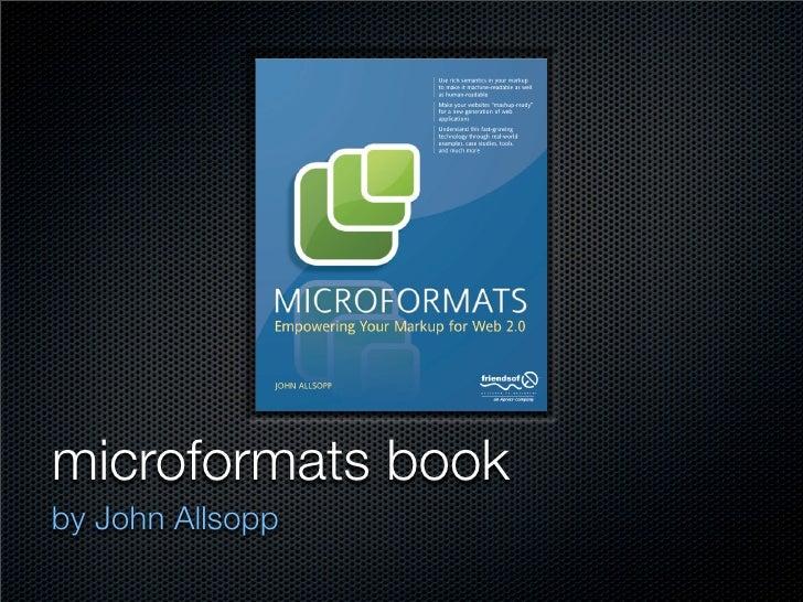 Microformats, Building Blocks of the Semantic Web