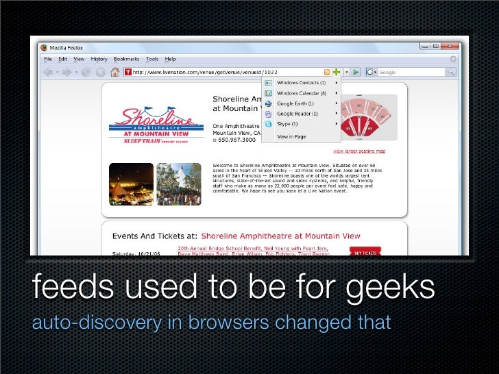 feeds used to be for geeks auto-discovery in browsers changed that