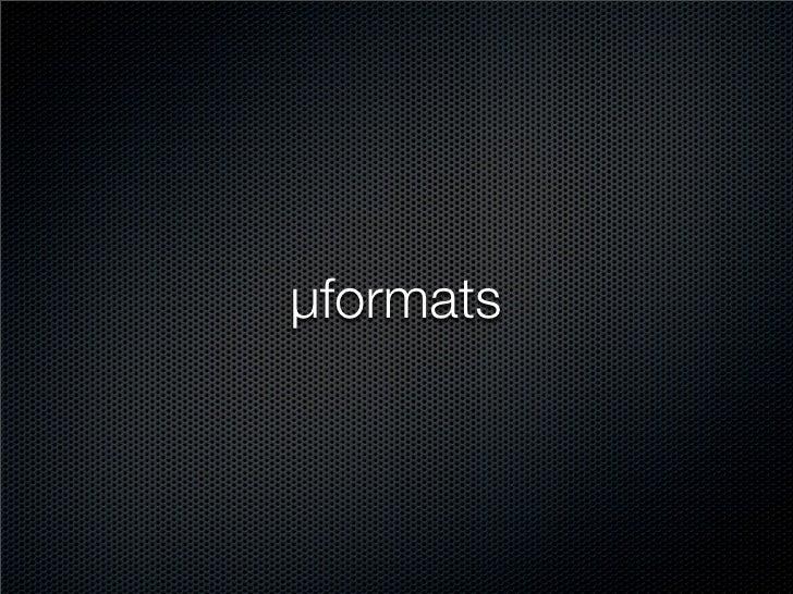 µformats