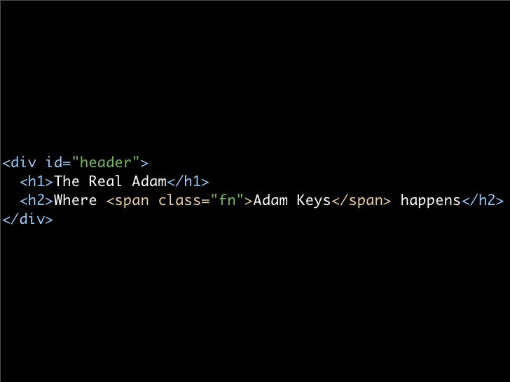 <p id=quot;blurbquot;>   Adam Keys is a <span class=quot;titlequot;>software developer and writer</span>                  ...