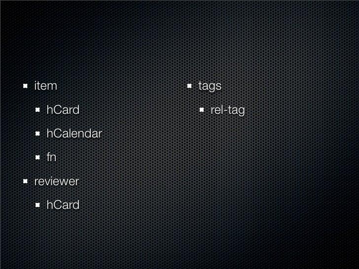 contact   hCard skills   rel-tag