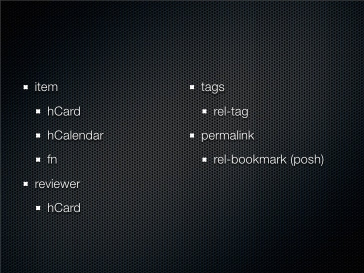 contact   hCard skills   rel-tag affiliations   hCard