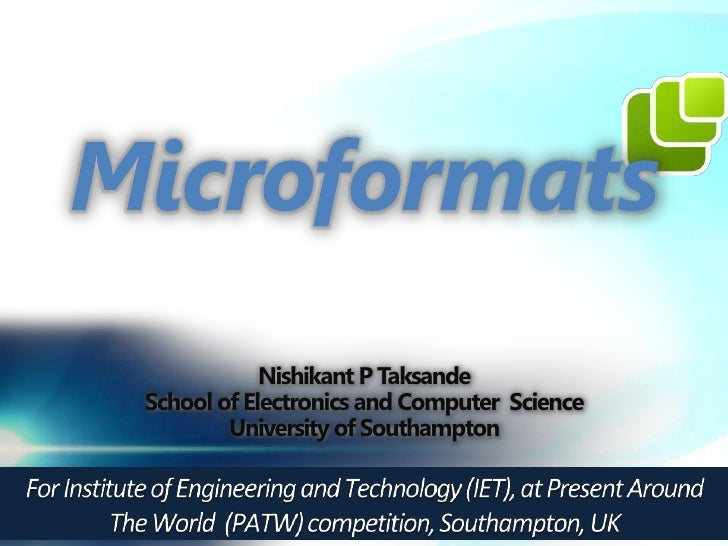 Nishikant P TaksandeSchool of Electronics and Computer Science        University of Southampton