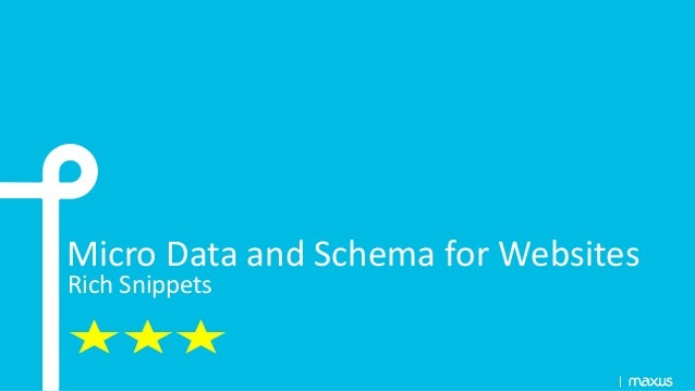Micro Data and Schema for Websites Rich Snippets