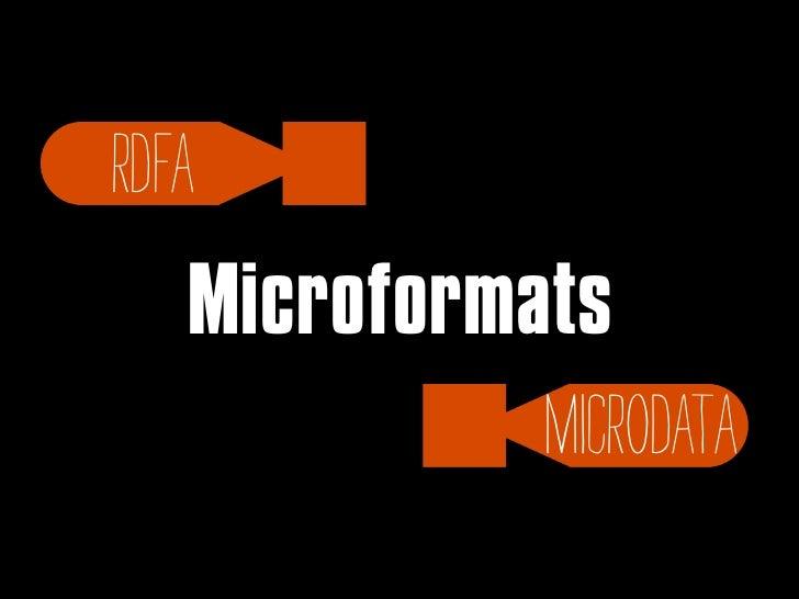 A Closer LookDon't forgetvalidation!•W3C Markup Validation Service• Optimus Microformats Transformer