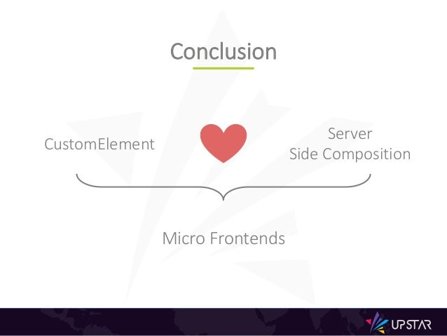 Conclusion CustomElement Server Side Composition Micro Frontends