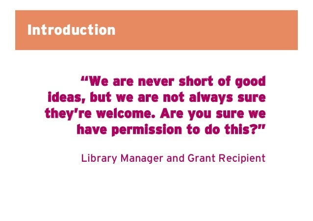 Prompting ideas and action: Learning from our micro-grant scheme in libraries  Slide 2