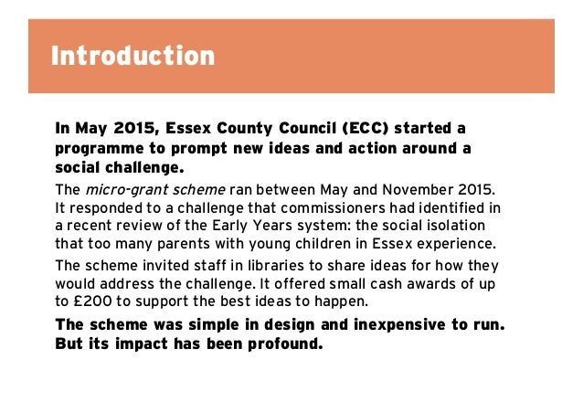 Prompting ideas and action: Learning from our micro-grant scheme in libraries  Slide 3