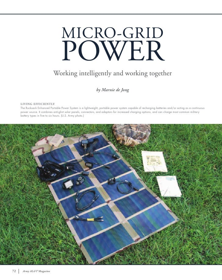 MICRO-GRID                                    POWER                              Working intelligently and working togethe...
