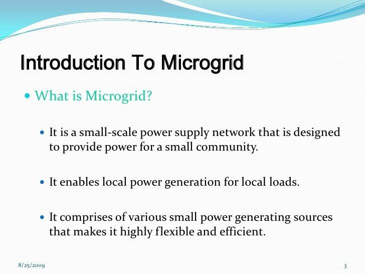 Microgrid Presentation Slide 3