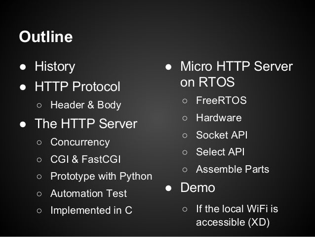 Micro HTTP Server Implemented in C @ COSCUP 2016