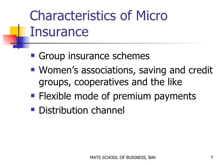 micro insurance Last updated 4/30/18 issue: microinsurance is an important tool for protecting  the health and livelihoods of under-served low-income populations in emerging.