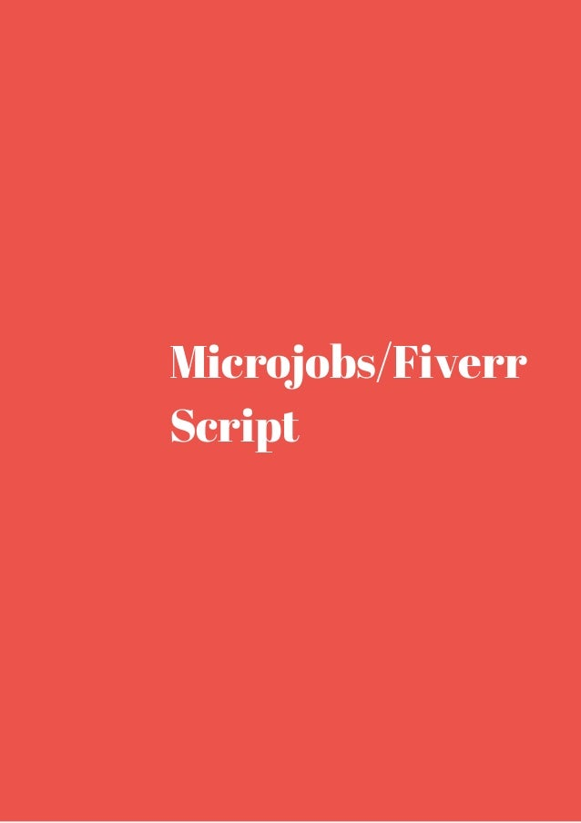 Microjobs fiverr script get it now