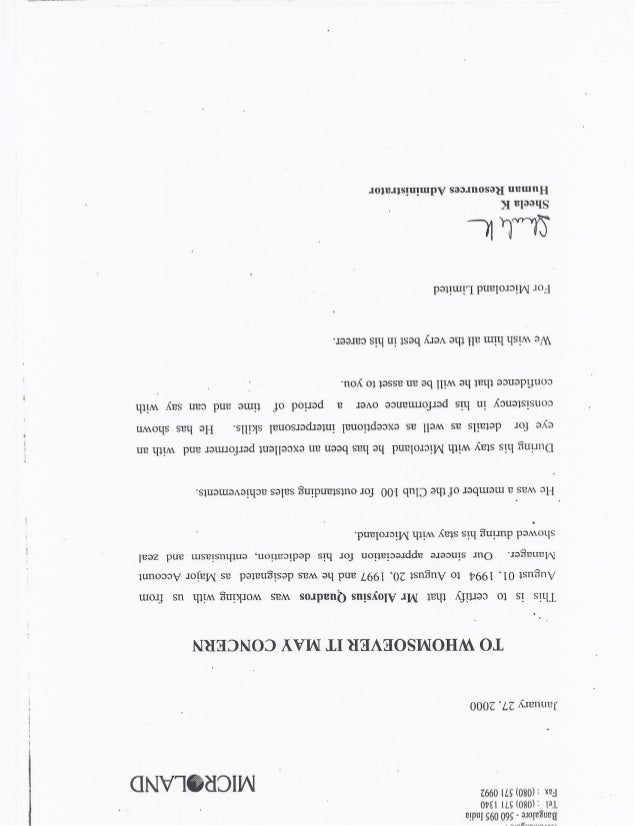 letter of recommendation microland o1 recommendation letter