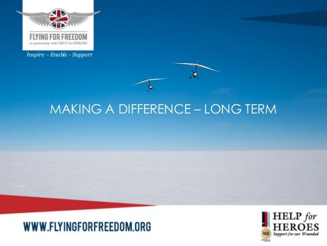 MAKING A DIFFERENCE – LONG TERMInspire – Enable - Support