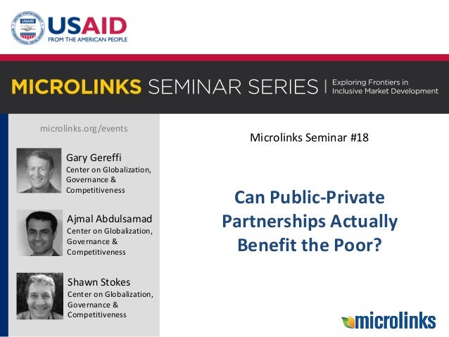microlinks.org/events Gary Gereffi Center on Globalization, Governance & Competitiveness Ajmal Abdulsamad Center on Global...