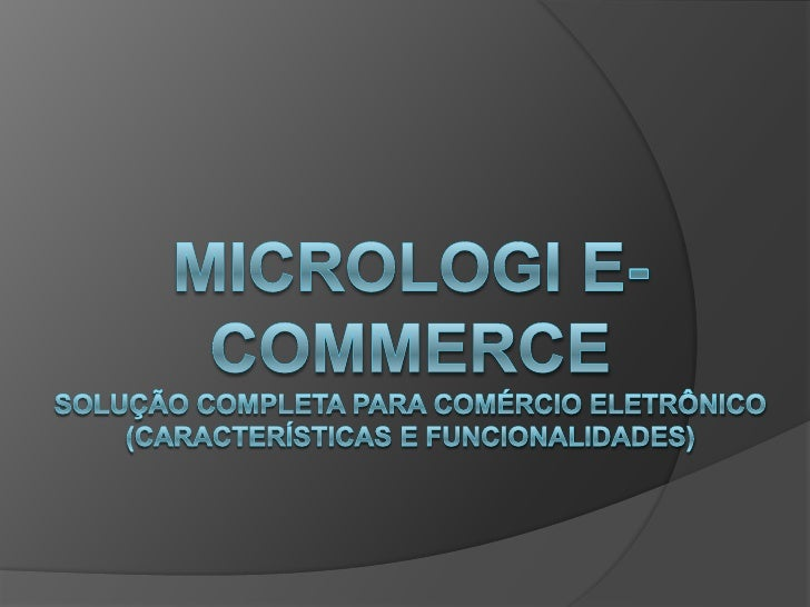 Micrologi E Commerce