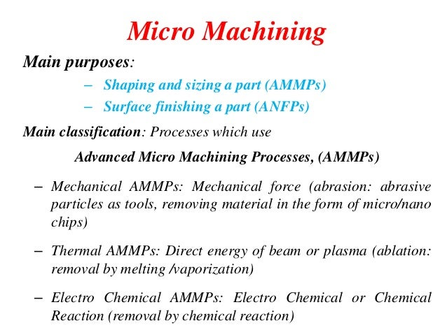 Micromachining Module 3