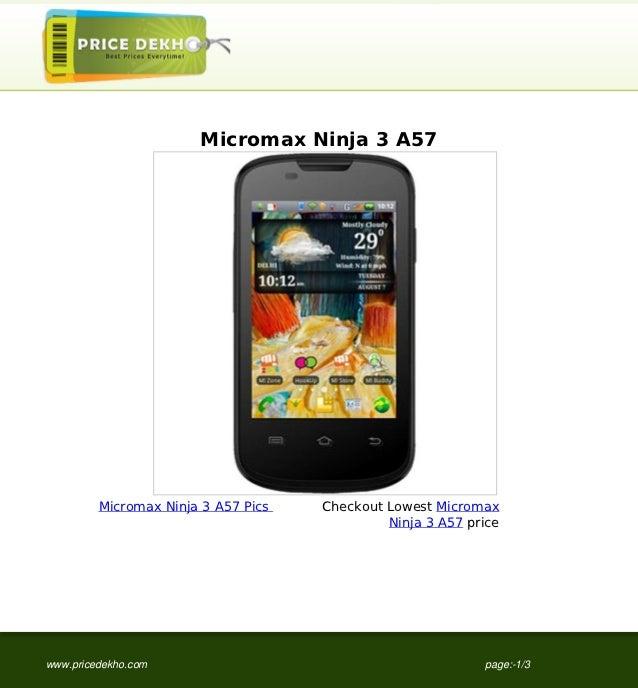 Micromax Ninja 3 A57         Micromax Ninja 3 A57 Pics   Checkout Lowest Micromax                                         ...