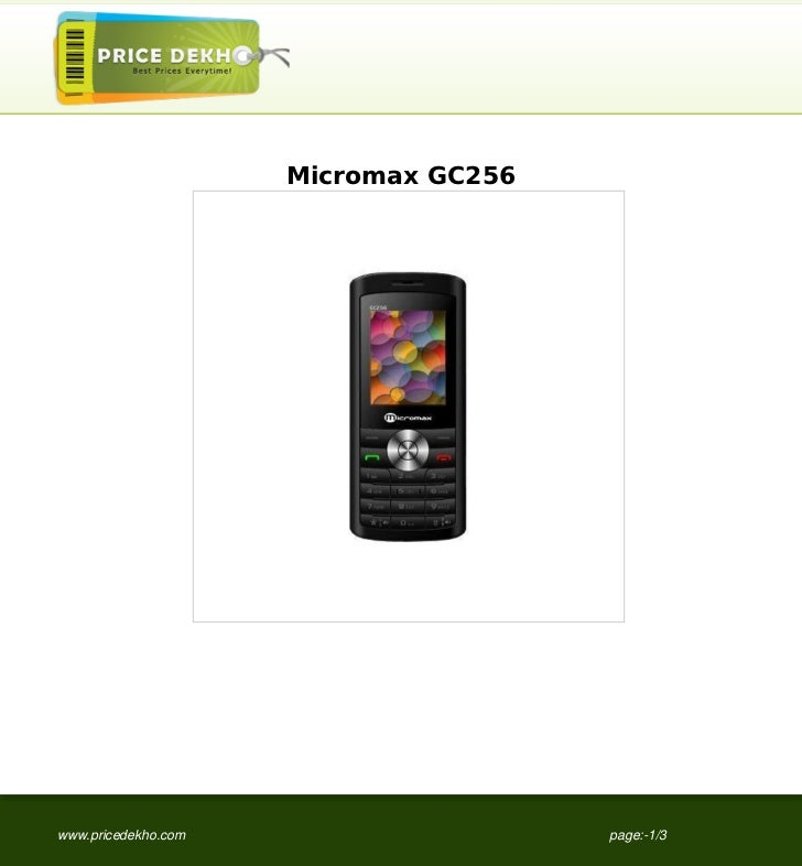 Micromax GC256www.pricedekho.com                    page:-1/3