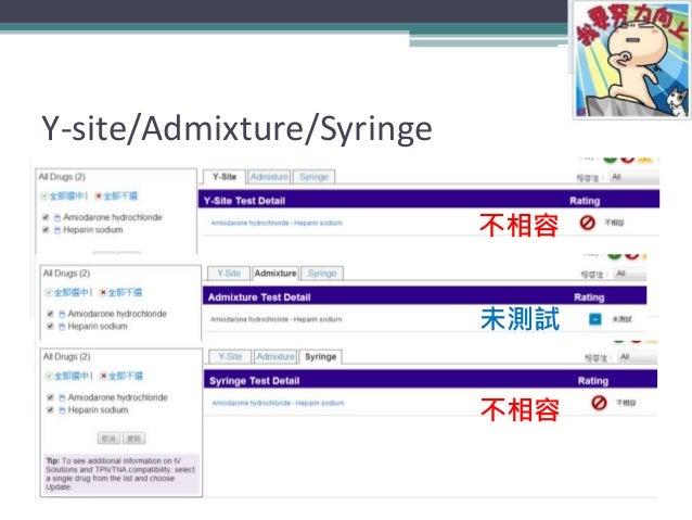 Y-site/Admixture/Syringe 47 不相容 不相容 未測試