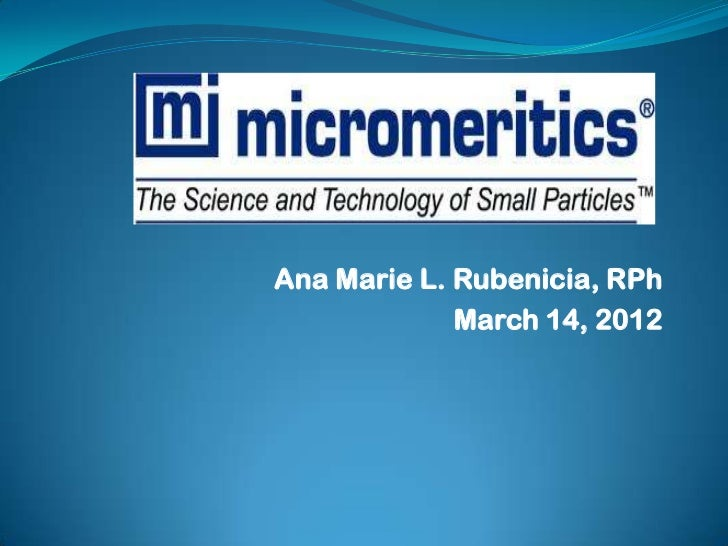 Ana Marie L. Rubenicia, RPh             March 14, 2012