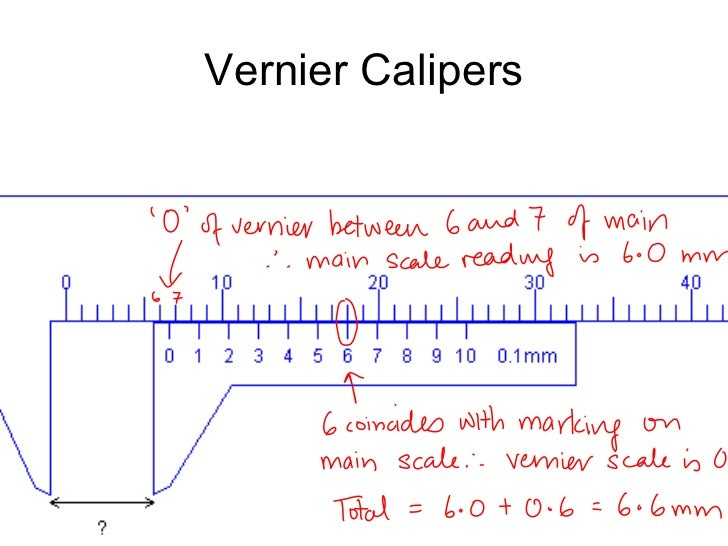 micrometer and vernier calipers reading with instructions