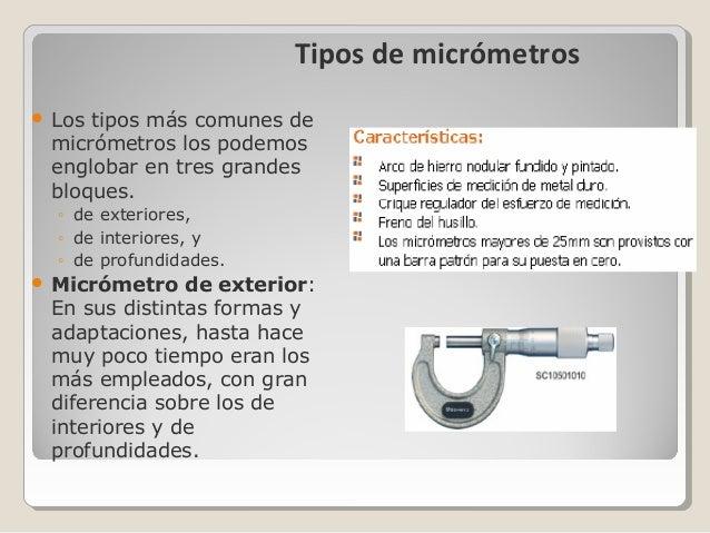 Micrometro - Tipos de cerramientos exteriores ...