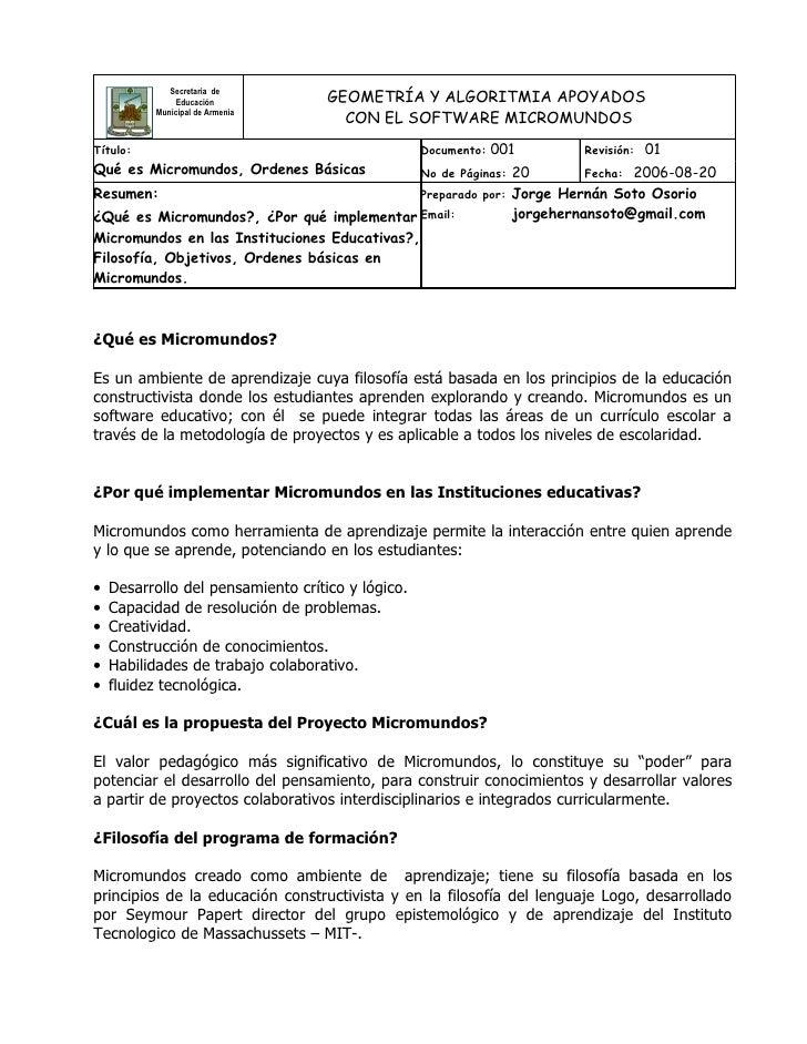 Secretaria de               Educación            GEOMETRÍA Y ALGORITMIA APOYADOS                                      CON ...