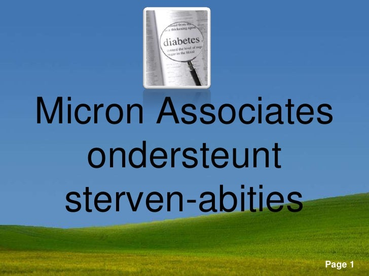 Micron Associates   ondersteunt sterven-abities     Powerpoint Templates                            Page 1
