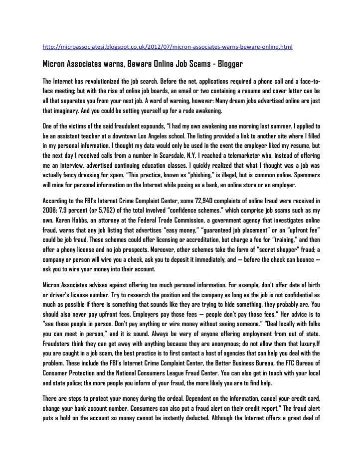 http://microassociatesi.blogspot.co.uk/2012/07/micron-associates-warns-beware-online.htmlMicron Associates warns, Beware O...