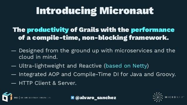 Reactive microservices with Micronaut - Greach 2018