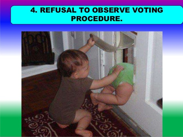 A VOTERVIOLATING THE VOTINGPROCEDUREORSECREC OF VOTING SHALL NOTBE ALLOWEDTOVOTE. Violation of maintenance of secrecy is p...